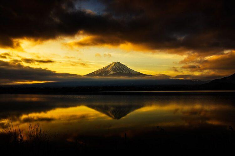 河口湖观富士山