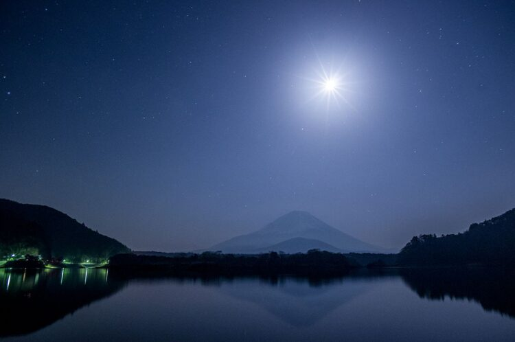 精進湖观富士山